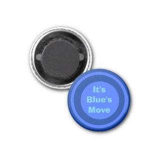 Azul 1-1/4 del marcador del ~TAG~ de los inspector Imán Redondo 3 Cm