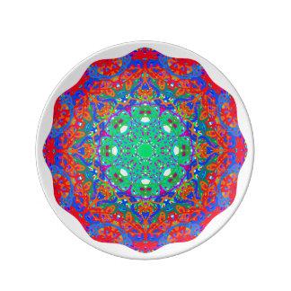 """Azul 8,5"""" del verano placa de la porcelana plato de cerámica"""