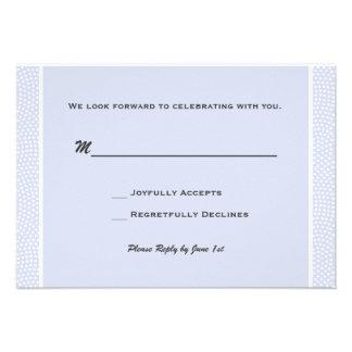 Azul acariciado - tarjeta de la respuesta comunicado