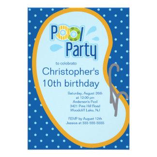 Azul adolescente de la invitación de la fiesta en