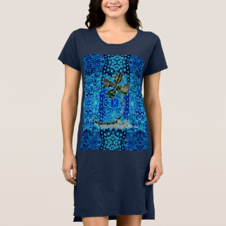 Azul afortunado vestido