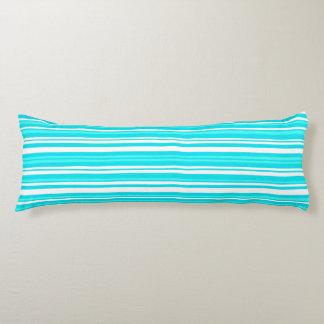 azul - almohada cepillada del cuerpo del poliéster