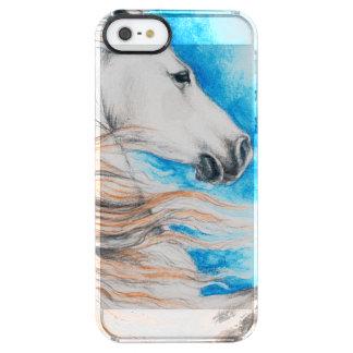 Azul andaluz del caballo funda transparente para iPhone SE/5/5s