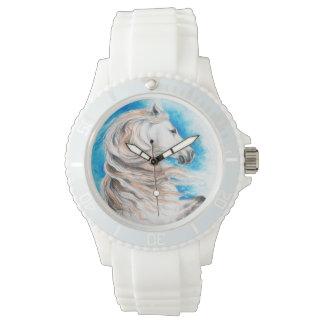 Azul andaluz del caballo reloj de pulsera