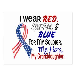 Azul blanco rojo para mi nieta postal