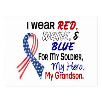 Azul blanco rojo para mi nieto postal