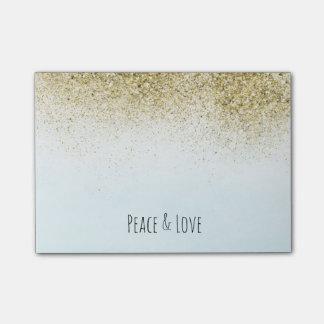 Azul bonito y reluciente Ombre del amor de la paz Notas Post-it®