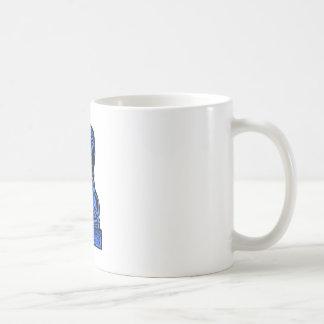 Azul británico del caballo del emblema los regalos taza básica blanca