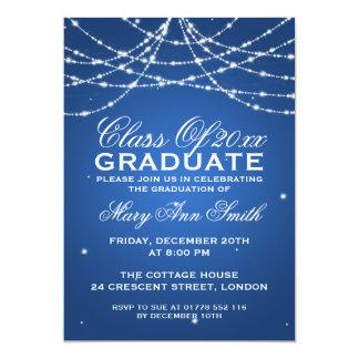 Azul chispeante de la secuencia de la fiesta de invitación 12,7 x 17,8 cm