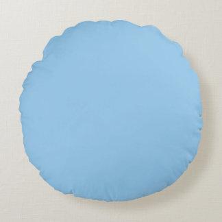 Azul claro cojín redondo