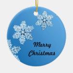 Azul claro con los ornamentos del navidad de los c adorno de navidad