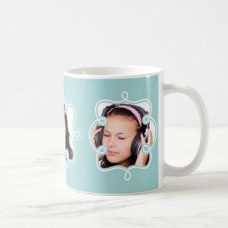Azul claro de encargo enmarcado 3 fotos de tazas de café