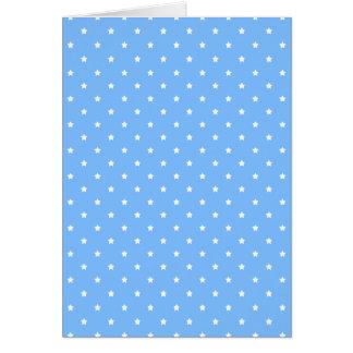 Azul claro y blanco. Modelo de estrella Tarjeta De Felicitación