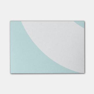 Azul claro y blanco notas post-it®
