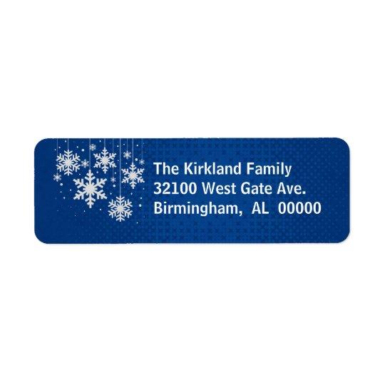 Azul con las etiquetas de dirección del día de fie
