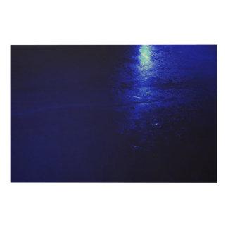 "Azul congelado 36"""" arte de madera de la pared x24"