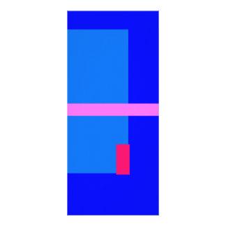 Azul contemporáneo tarjeta publicitaria a todo color