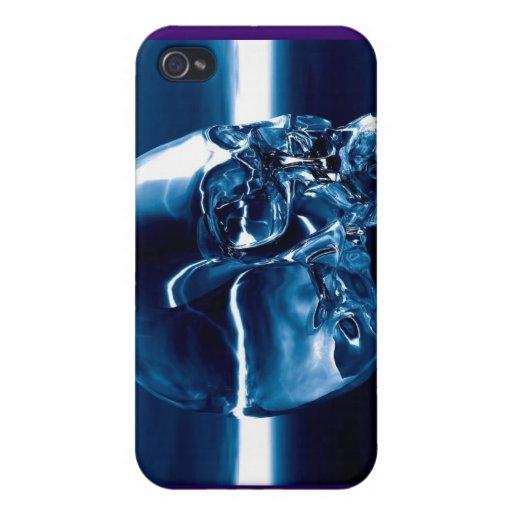 azul cristalino iPhone 4 funda