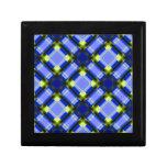 azul cuadrado del patternserie 1 caja de joyas