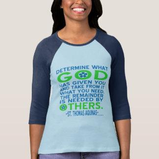 Azul dado dios y verde de Tomás de Aquino Camiseta
