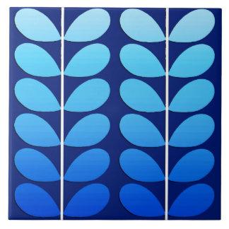 Azul danés de las hojas, de la marina de guerra y azulejo