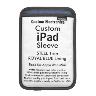 Azul de acero y real de la mini manga del iPad de Fundas Para iPad Mini