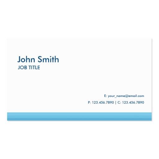 Azul de alta tecnología simple llano moderno tarjeta de visita