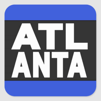 Azul de Atlanta 2 Pegatina Cuadrada