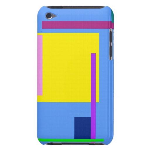 Azul de cielo artístico del espacio iPod touch Case-Mate cárcasas