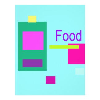 Azul de cielo de la comida tarjetón