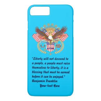 Azul de cielo patriótico del bosque de la paz funda iPhone 7 plus