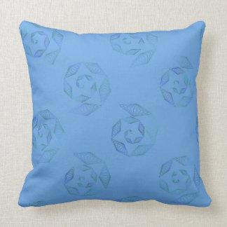 Azul de cielo y almohada del espiral