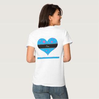 Azul de cielo y estrellas conocidos personalizados camisetas