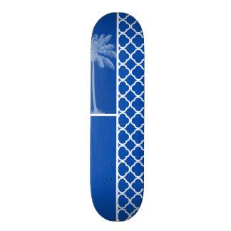 Azul de cobalto Quatrefoil; Palma Patín Personalizado