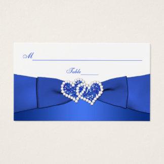 Azul de cobalto y corazones unidos blanco tarjeta de negocios