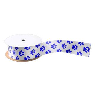 Azul de DIY en la huella blanca del gato/del Lazo De Raso