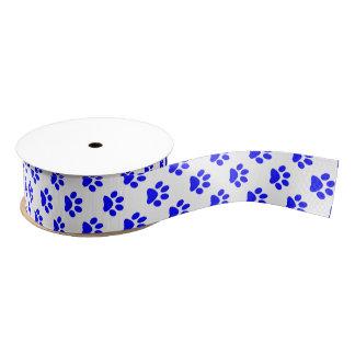 Azul de DIY en la huella blanca del gato/del Lazo De Tela Gruesa