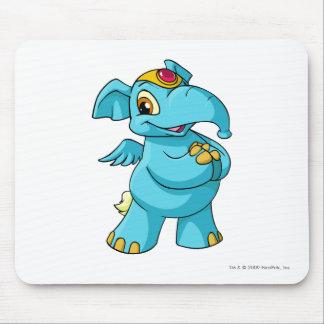 Azul de Elephante Alfombrilla De Ratón