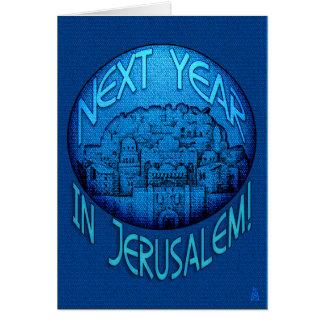 Azul de Jerusalén del Passover Felicitación