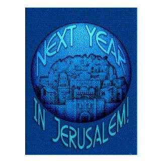 Azul de Jerusalén Postal
