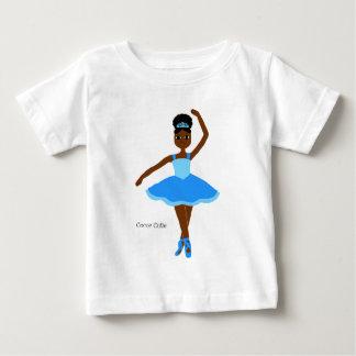 Azul de la bailarina de Cuties del cacao Camiseta De Bebé
