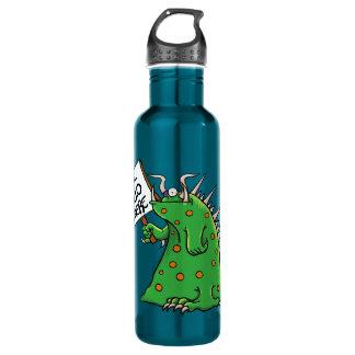 Azul de la botella de agua de Greep