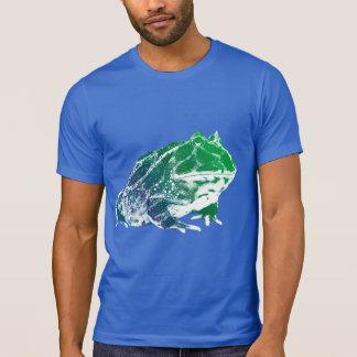 Azul de la camisa de la rana de Pacman