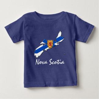Azul de la camisa del mapa de Nueva Escocia