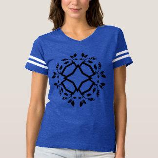 Azul de la camiseta con arte de la mandala/la