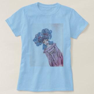 azul de la camiseta de las mujeres