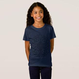 Azul de la camiseta de los diseñadores con arte de