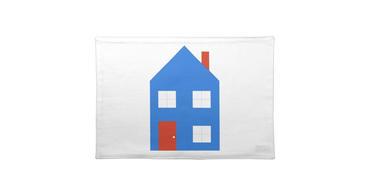 Azul de la casa mantel zazzle for Casa mantel