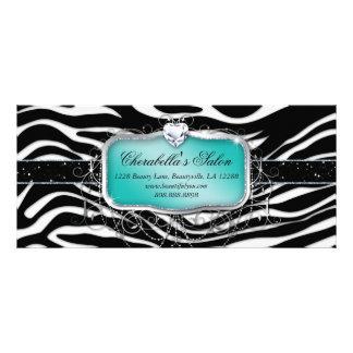 Azul de la cebra de la joyería del salón de la tarjetas publicitarias personalizadas