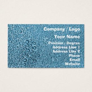 Azul de la condensación 05 del agua tarjeta de visita